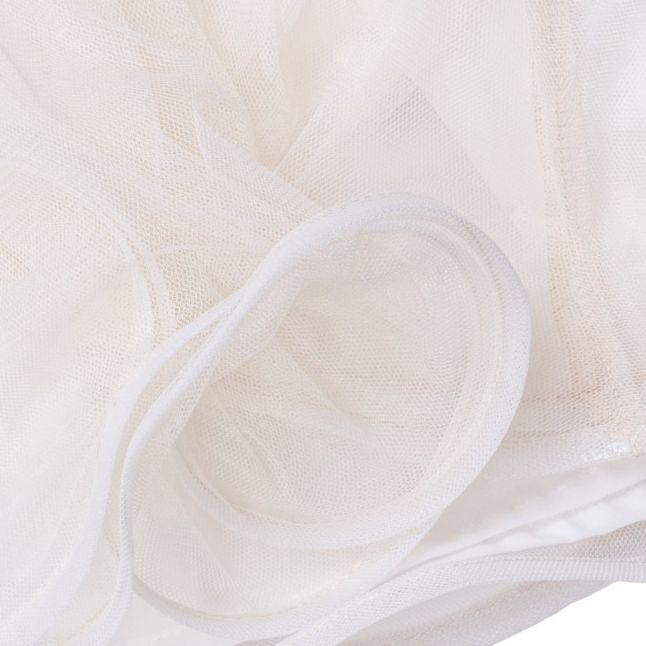 Baby White Layered Frill Dress