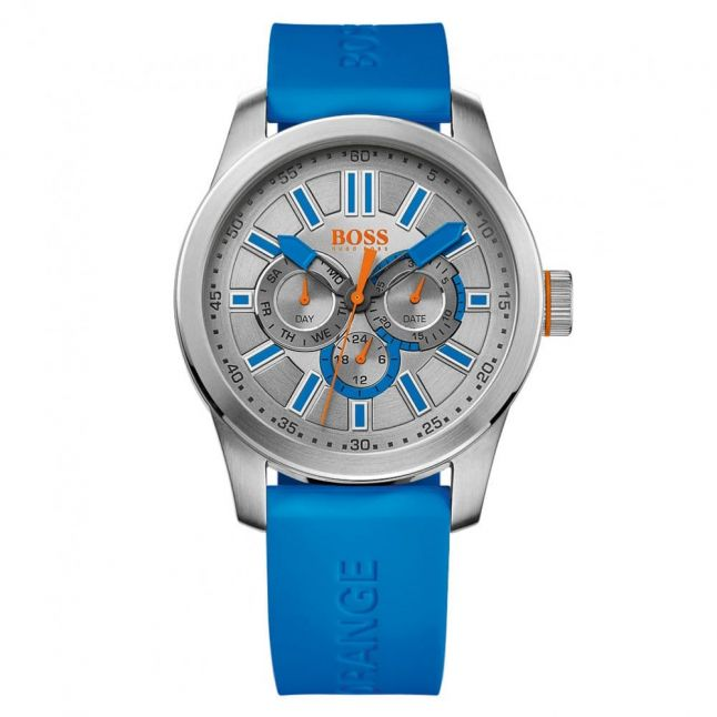 Watches Mens Grey Dial Paris Silicone Strap Watch