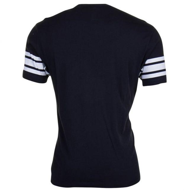 Mens Black Stripe Sleeve S/s Tee Shirt