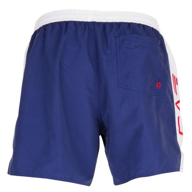 Mens Navy Sea World C Block Swim Shorts