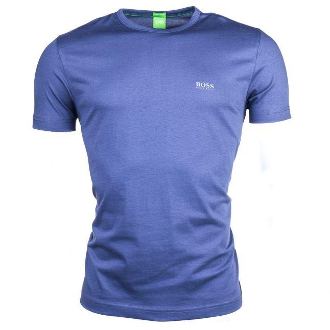Mens Blue Tee Small Logo S/s Tee Shirt