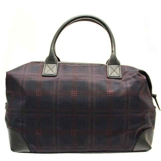 Mens Navy Javier Ombre Check Holdall Bag