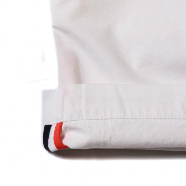 Boys White Branded Shorts
