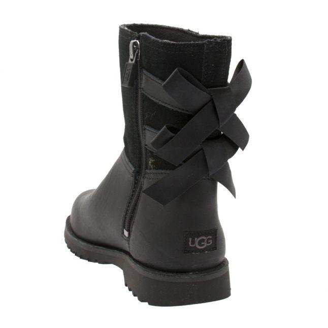 UGG Kids Black Tara Bow Boots (12-5