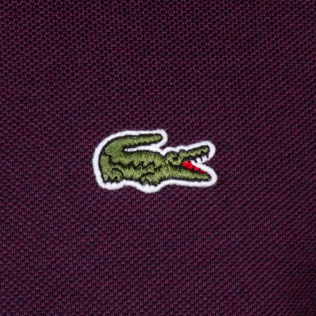 Mens Burgundy Classic Marl S/s Polo Shirt