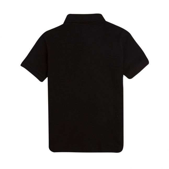 Boys Black Classic Pique S/s Polo Shirt