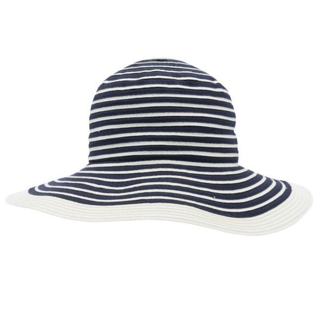 Womens Navy Stripe Sealand Sun Hat