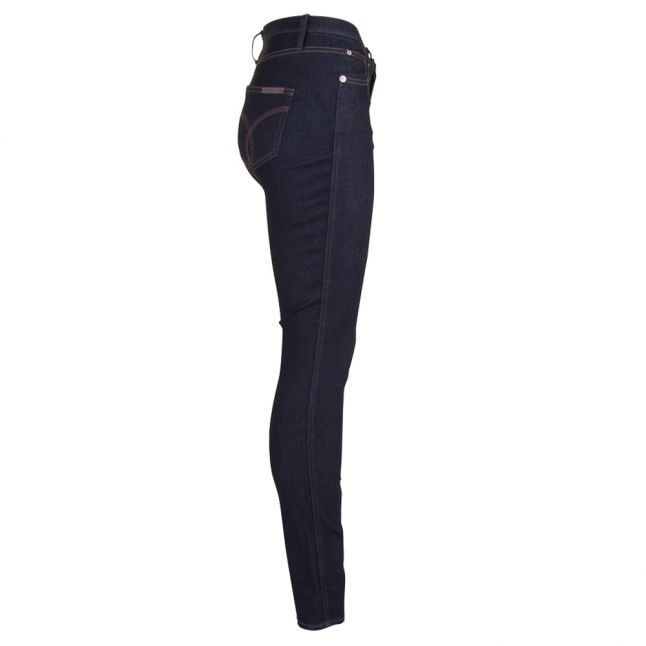 Womens Blue Sculpted Skinny Jeans
