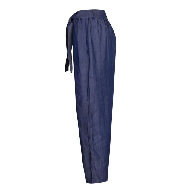 Womens Blue Chambray Trousers