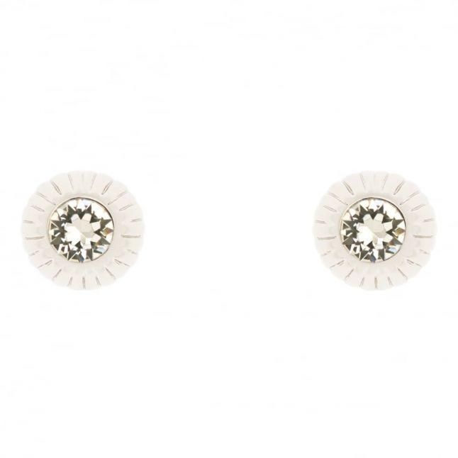 Womens Silver & Crystal Aubree Studs