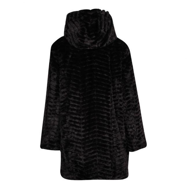 Womens Black Padded Reversible Coat