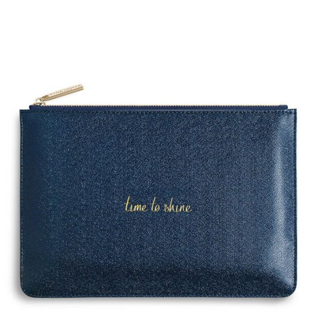 Womens Shiny Sapphire Time To Shine Perfect Pouch