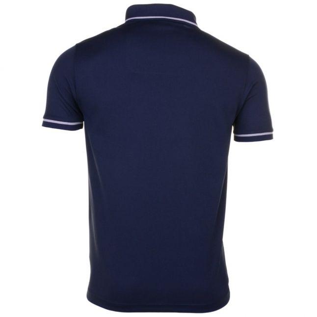 Paul & Shark Mens Blue Tipped Shark Fit S/s Polo Shirt