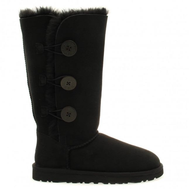 Womens Black Bailey Button Triplet Boots