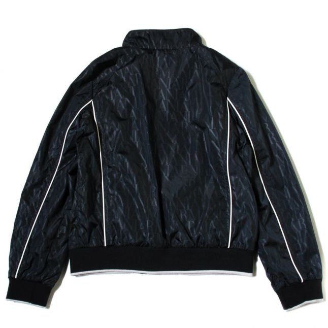 Boys Navy Branded Zip Through Jacket (10yr+)