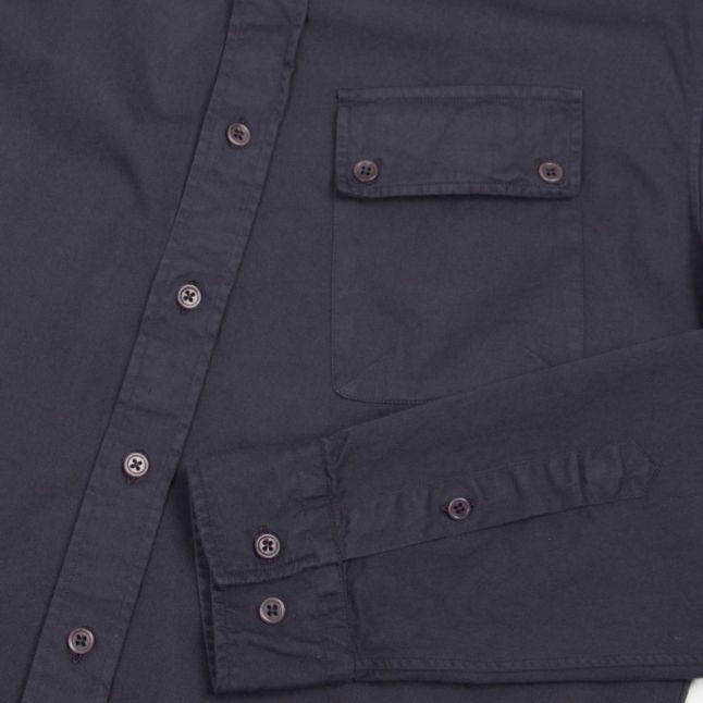 Mens Deep Navy Pitch L/s Shirt