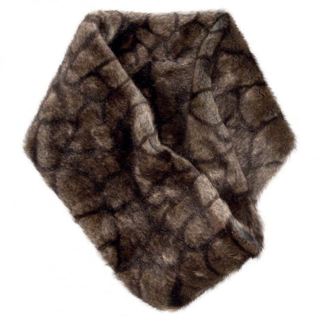 Womens Elk Greystones Faux Fur Snood