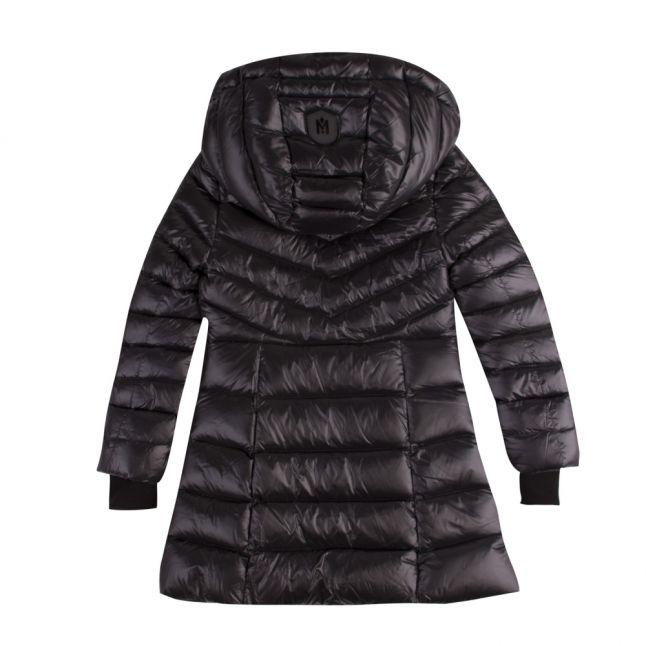 Girls Black Larena Hooded Down Coat
