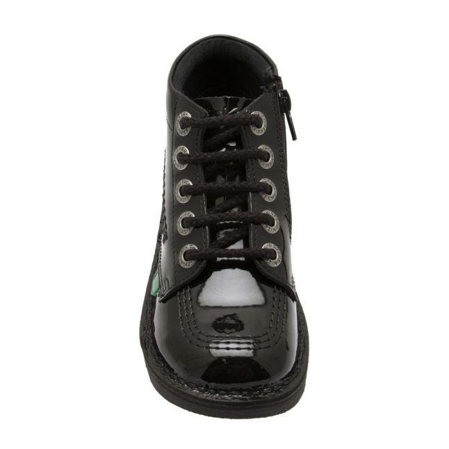 Junior Black Patent Kick Hi Zip Boots (12.5-2.5)