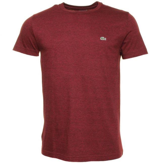 Mens Burgundy Classic Crew S/s Tee Shirt