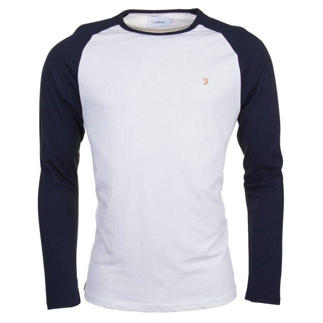 Mens True Navy Zemlek Raglan L/s Tee Shirt