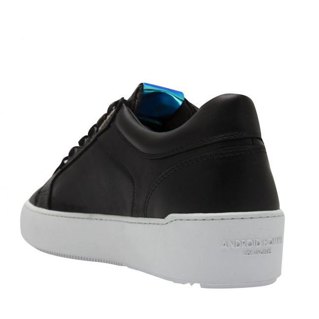 Mens Space Black Leather Venice Trainers