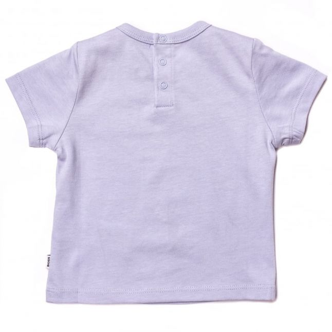 Baby Pale Blue Branded S/s Tee Shirt