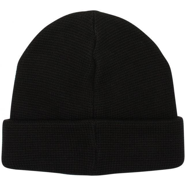 Mens Jet Black Milano Knitted Hat
