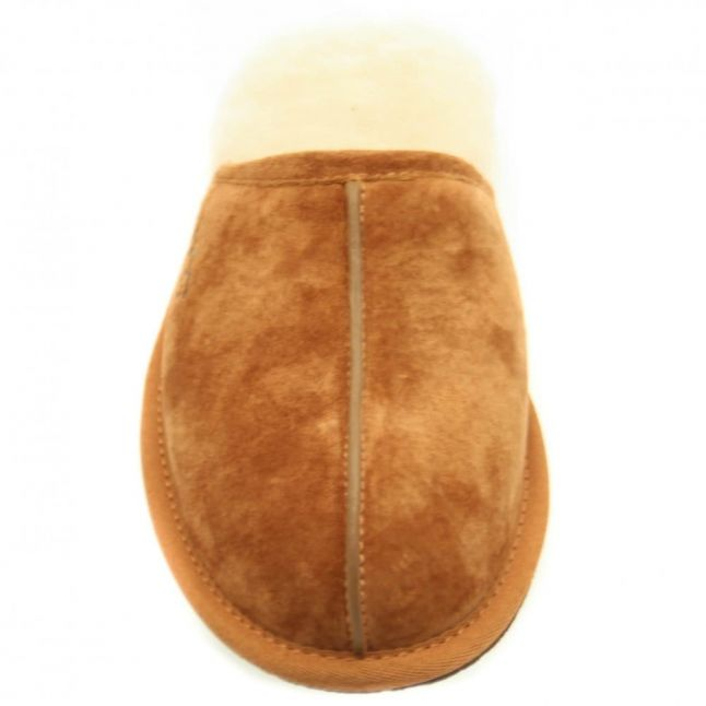 Mens Chestnut Scuff Slippers