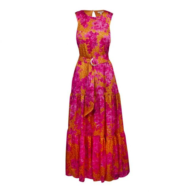 Womens Yellow/Pink Bambia Tiered Maxi Dress