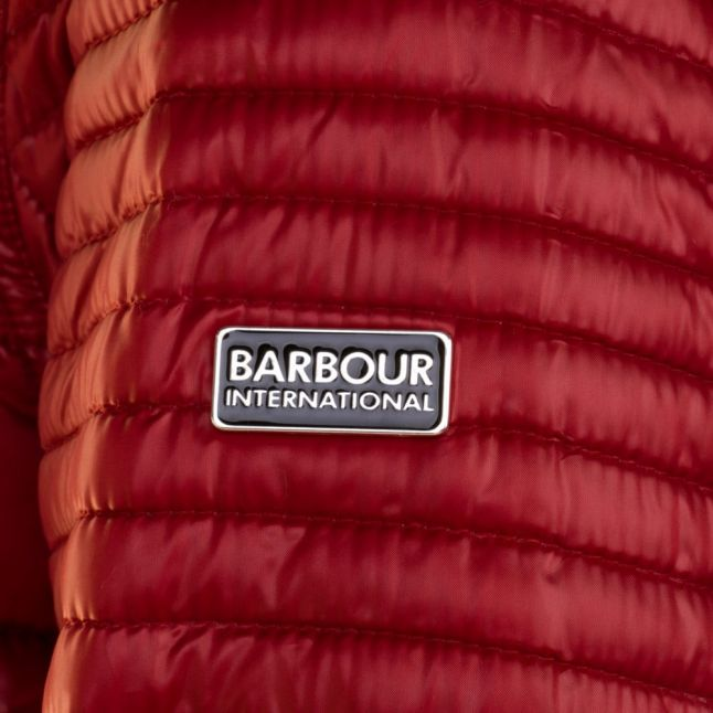 Womens Deep Red Camber Baffle Quilted Jacket