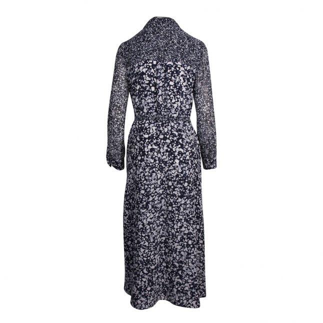 Womens Indigo Multi Areita Drape Printed Midi Dress