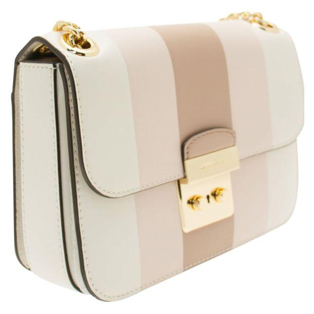 Womens Soft Pink Sloan Multi Stripe Shoulder Bag