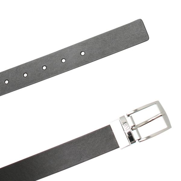 Boys Black Branded Belt