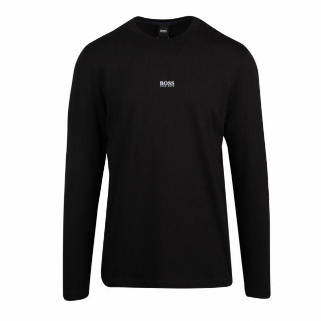Casual Mens Black Tchark Centre Logo L/s T Shirt