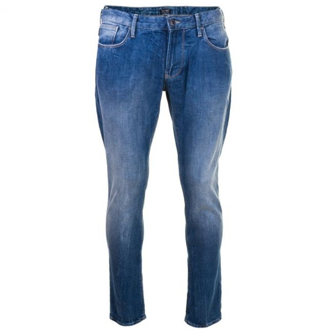 Mens Blue Wash J06 Slim Fit Jeans