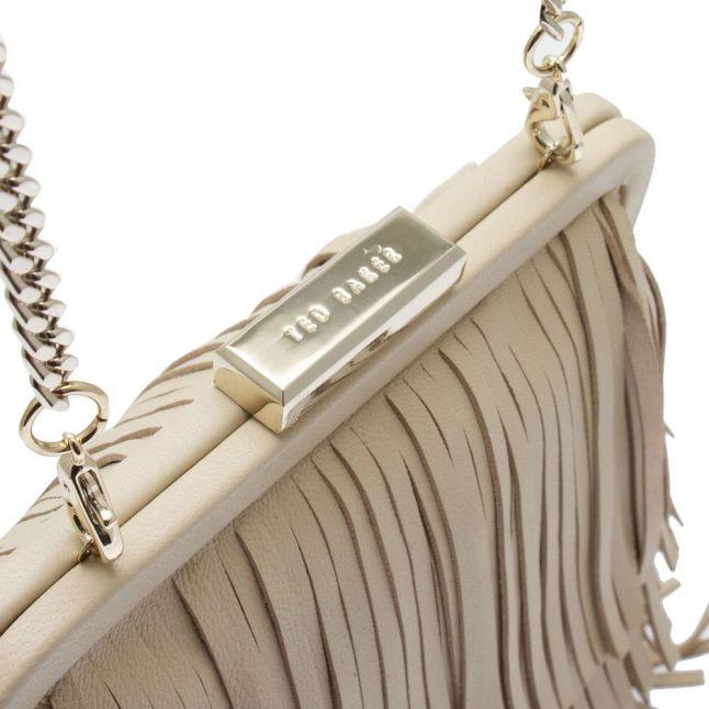 Womens Natural Katilan Tassel Crossbody Bag