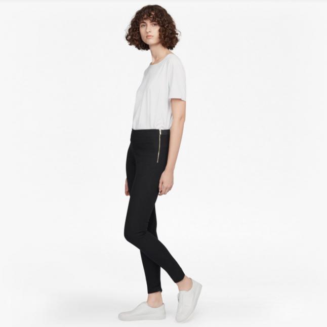 Womens Black Street Twill Skinny Trousers