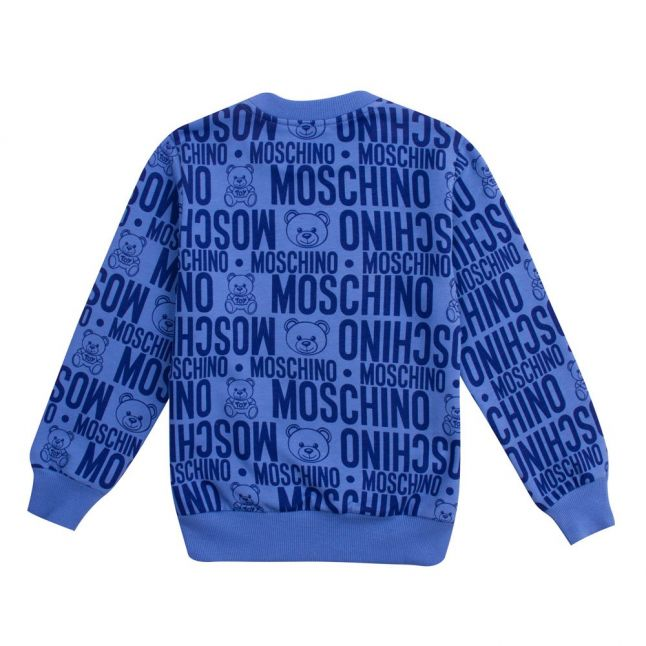 Boys Blue Toy Printed Sweat Top