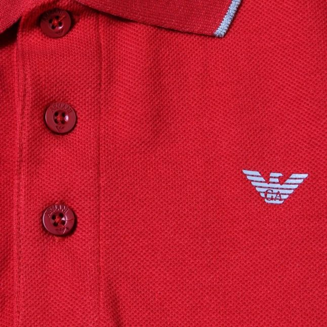Boys Red Tipped S/s Polo Shirt (10yr+)