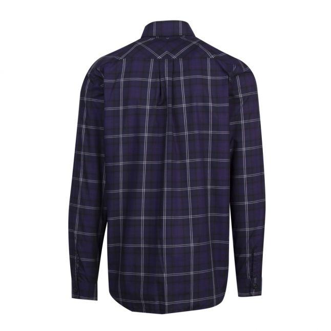 Mens Medieval Blue Tartan Check L/s Shirt