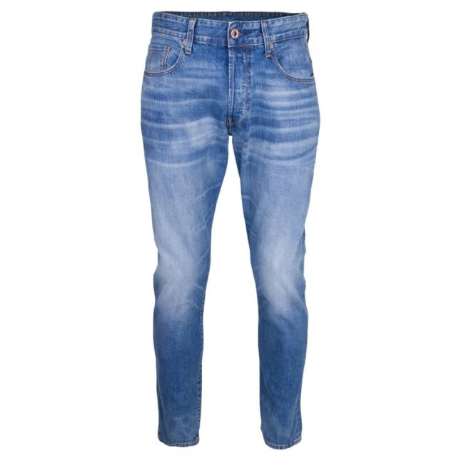 Mens Medium Aged Wash 3301 Tapered Fit Jeans