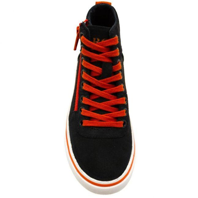 Boys Grey & Orange Hi Tops (27-41)
