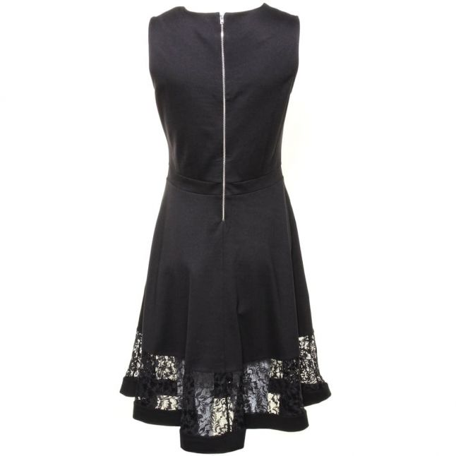 Womens Black Beau Lace Panel Dress