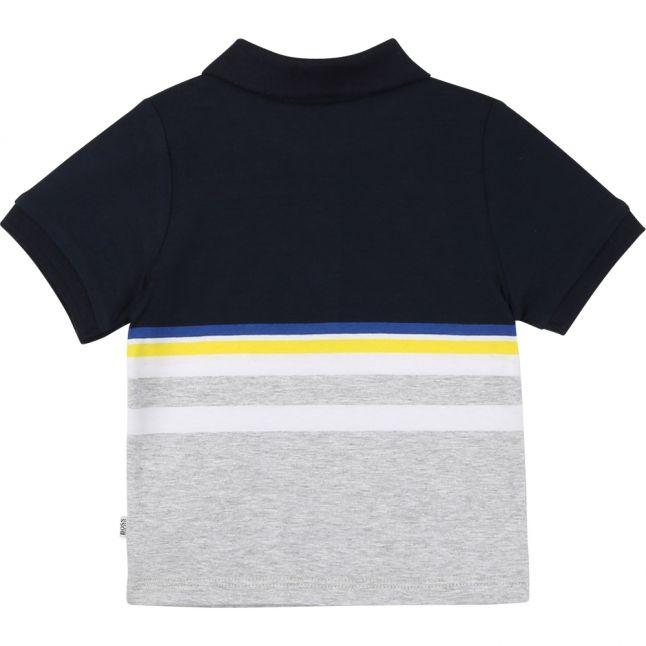 Toddler Navy Colour Stripe Logo S/s Polo Shirt