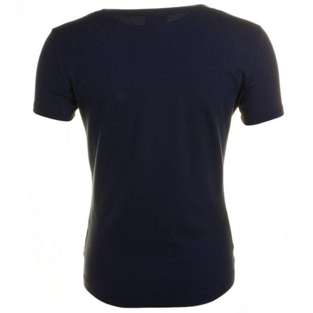 Womens Blue Training Logo Series Glitter S/s Tee Shirt