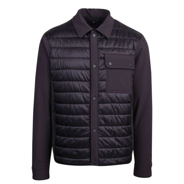 Mens Navy Padded Overshirt Jacket