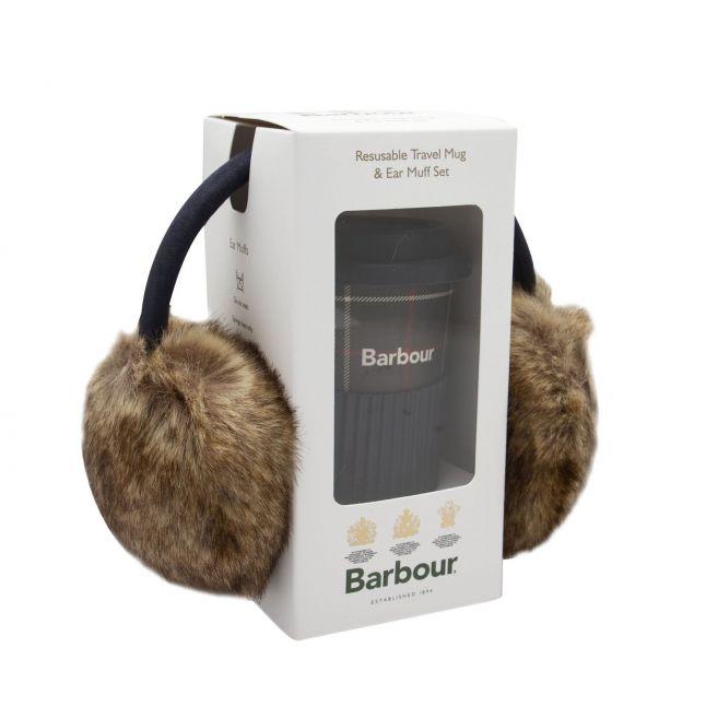 Womens Classic Tartan Travel Mug & Earmuff Set