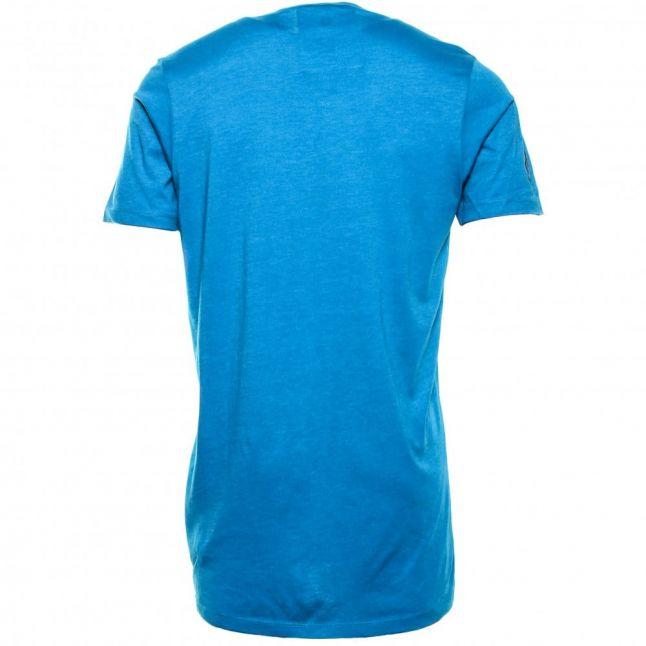 Mens Blue Occotis Face Long S/S Tee Shirt