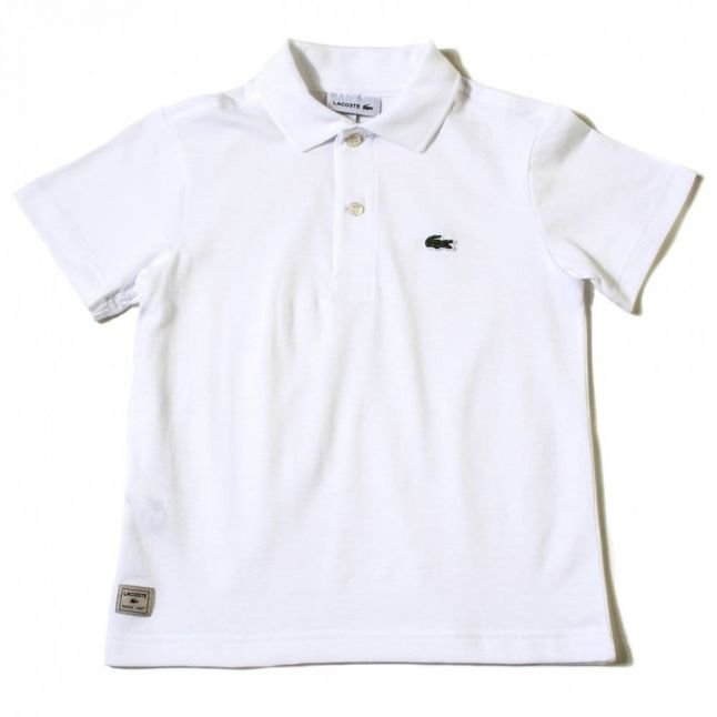 Boys White Jersey S/s Polo Shirt